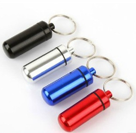 Metal Keychain Pill Holder