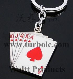 Playing Cards Keychains, Poker Keychains