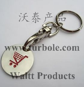 Shopping Trolley Coins Keychains