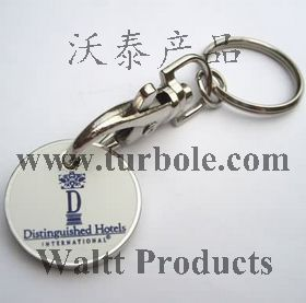Trolley Coin Keychain UK