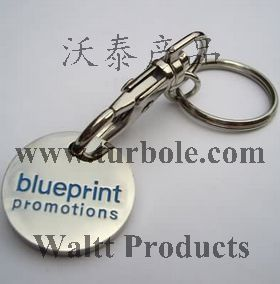 Promotional Trolley Coin Keychains