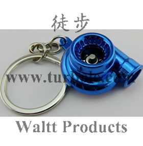 Creative Fashion Hot Auto Part Model Sleeve Spinning Turbo Turbine Turbocharger Keychain Key Chain Ring Keyfob Keyring