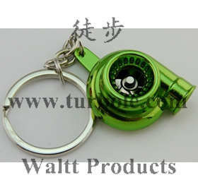 Hot Spinning Turbo Keychain Creative Fashion Fans Favorite Sleeve Bearing Turbine Turbocharger Keyring Key Chain Ring Keyfob