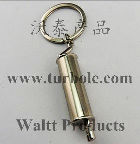 Polished Chrome Slivery Tailpipe Exhaust Pipe Muffler Key Chain Ring Keychain Keyring Keyfob