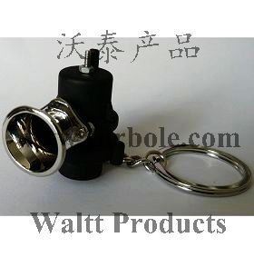 Creative Hot Sale Blow Off Valve BOV Auto Parts Accessories Keychain Key Chain Ring Key Fob Keyring